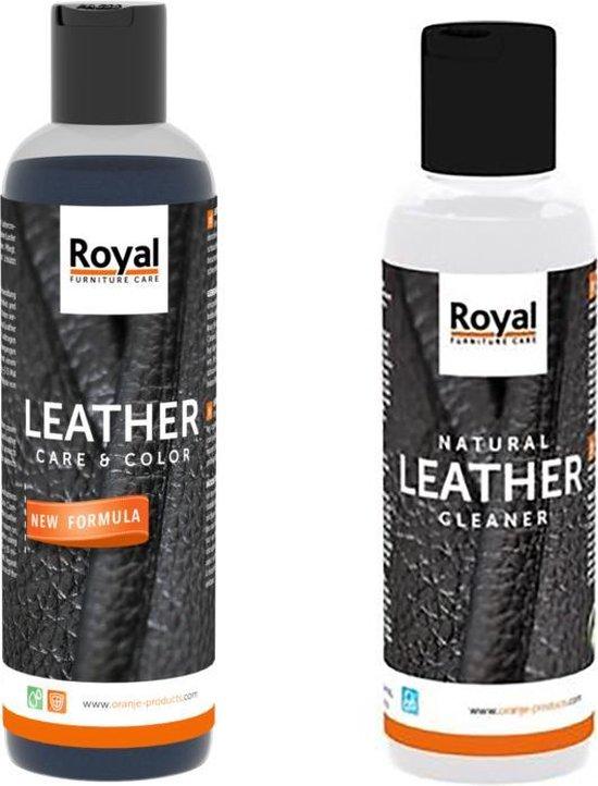 Natural leather Cleaner en Care & Color Zwart , Black