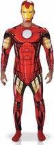 Marvel Iron Man Deluxe - Kostuum Volwassenen - Maat XL - 56/58 - Carnavalskleding