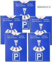 Parkeerschijf  - Blauwe zone - Parkeerkaart - Parking Disc - 5 Stuks