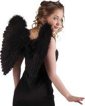 Halloween Engelenvleugels gevouwen - Zwart