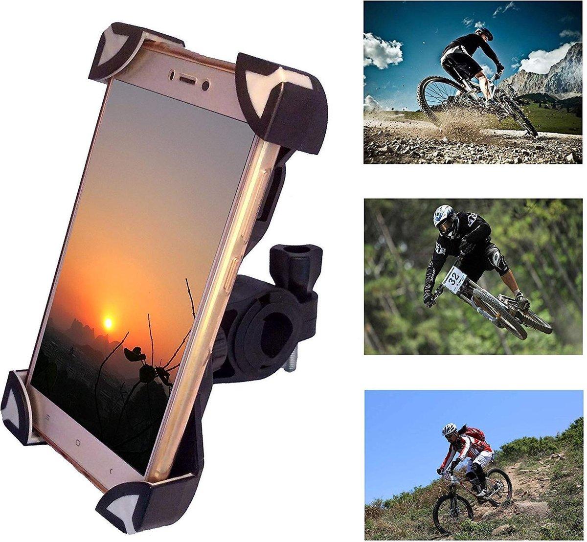 MTB Fiets Mobiele telefoonhouder Telefoonhouder Fietshouder Bike Mount voor racefiets Motorfiets Ebike Elektrische fietsscooter Racefietsen Kinderwage