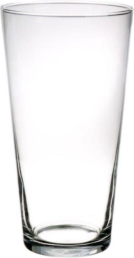 Conische vaas glas 30 cm - Glazen bloemenvaas taps - Decoratieve vazen