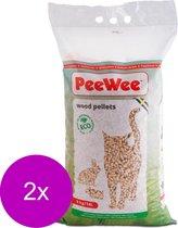 Peewee Houtkorrels - Kattenbakvulling - 2 x 9 kg
