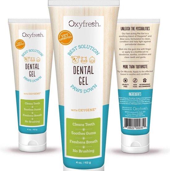 OxyFresh Pets - Tandpasta voor hond en kat - Tandgel tegen ontsteking en tandsteen