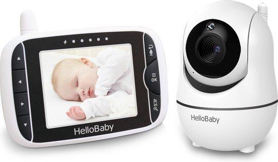 HelloBaby HB66 Babyfoon met camera - Video babyphone - Op afstand bestuurbaar - Nachtzicht - Terugspreekfunctie - Temperatuurcontrole - Slaapliedjes