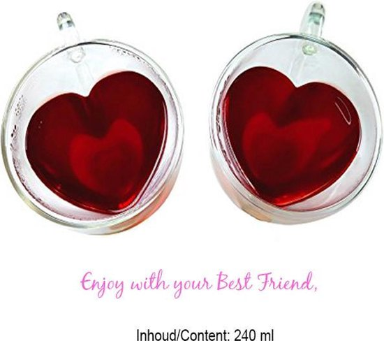 Lovely Thee glazen 'Heart'
