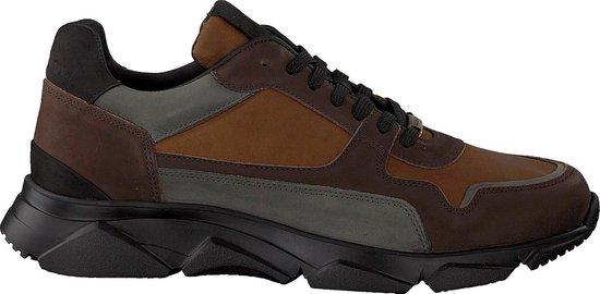 Mazzeltov Heren Lage sneakers 9509f - Bruin - Maat 44