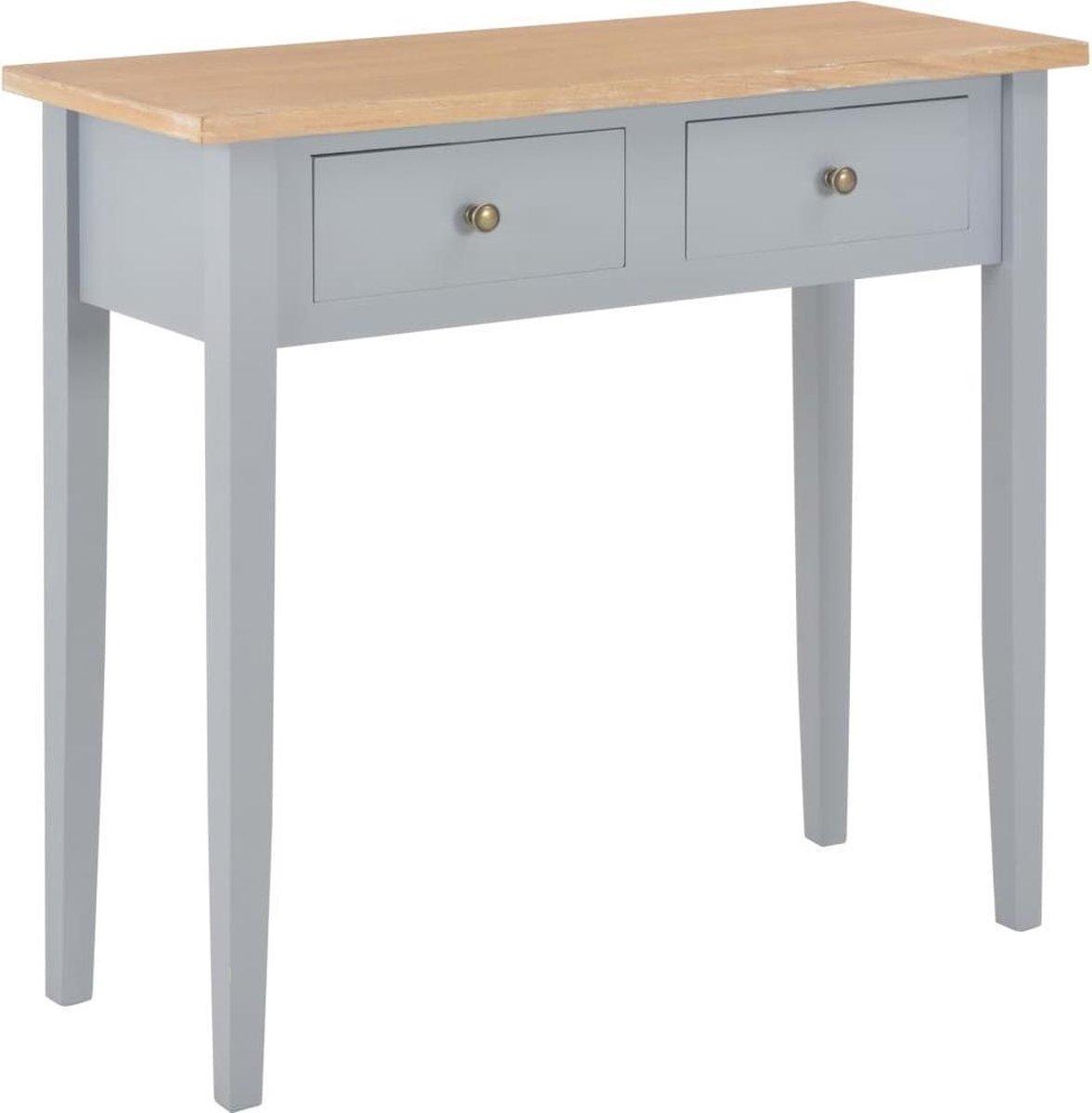 LW collection Decoratie tafel Hout grijs (Incl Dienblad) / woonkamer tafel/ slaapkamer tafel / salontafel / wandtafel online kopen