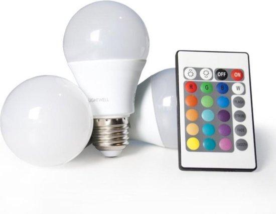 Smart LED lamp E27 set van 3 afstandbestuurdbaar