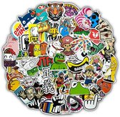 Random sticker mix met 50 verschillende stickers - voor laptop, skateboard, helm, etc.