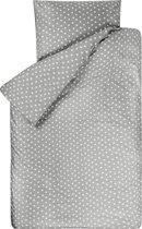 BINK Bedding Dekbedovertrek Stars Grijs 1-persoons 140x200/220 cm (incl 1 kussensloop 60x70 cm)