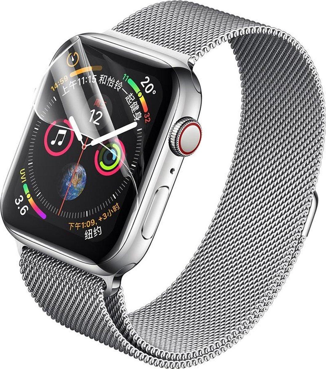 2x Stuks Apple iWatch 4/5/6/SE (44 mm) Hydrogel Bescherm Folie - Glasfolie Bescherming - Screenprote