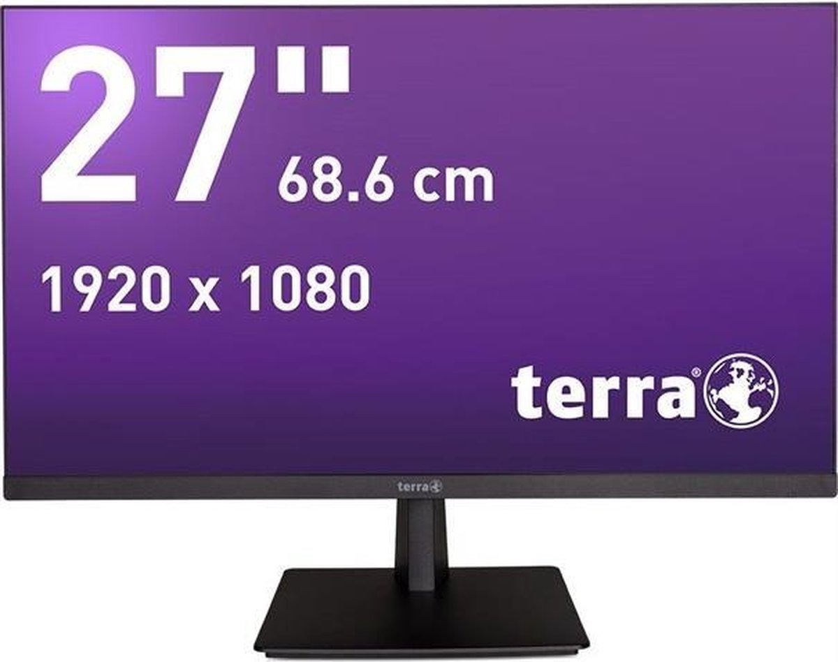 Wortmann AG TERRA 2763W GREENLINE PLUS 68,6 cm (27) 1920 x 1080 Pixels Full HD LED Zwart