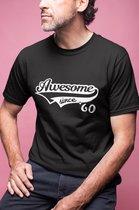60 jaar t-shirt / Awesome since 1960 / kado tip / Heren / vrouwen / cadeau / verjaardag / MAAT XL