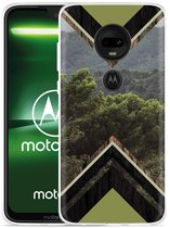 Moto G7 Plus Hoesje Forest wood