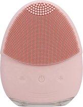 Gezichtsborstel -  Gezichtsreiniger - Gezichtsreinigingsborstel siliconen - Baby pink - Mee-eters Puistjes Vette Huid Blackheads - face brush - Poriën - Elektrisch gezichtsreiniger - Massage - Alle huidtypen - cadeau man vrouw