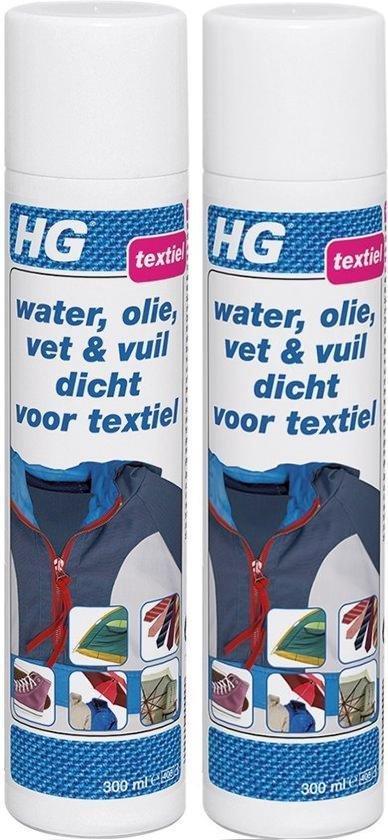 HG Water, Olie, Vet & Vuil Dicht Voor Textiel - 300 ml - 2 Stuks !