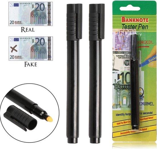 Afbeelding van Vals geld pen 2 stuks - Valsgeld detectiepen - Valsgeld stift - Geldstift - Nepgeld stift – Underdog Tech