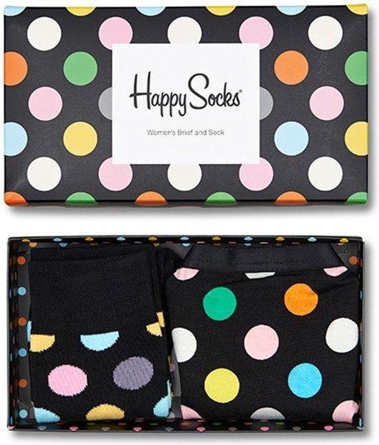 Happy Socks – Giftbox Hipster & Sokken Zwart Maat XS/36-40