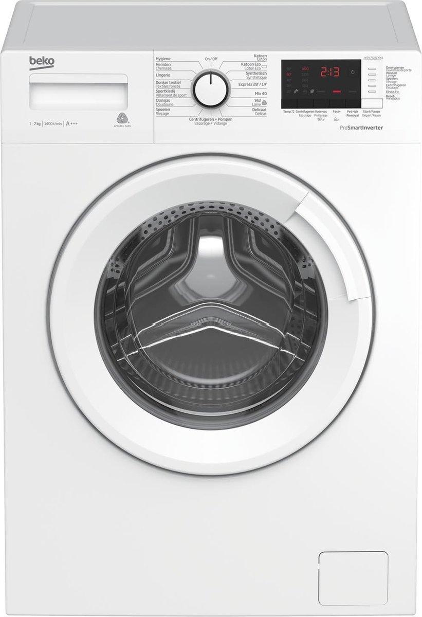 Beko wasmachine WTV77222XW1