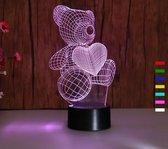 3D ILLUSIE LAMPJE MET 7 KLEUREN I NACHTLAMPJE BEER I 3D LAMP ILLUSION WITH 7 COLORS CHANGE SMART TOUCH SWITCH