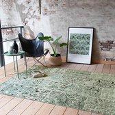 Vintage vloerkleed - Wonder Patchwork Groen/Zwart 70x140cm