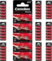 Camelion AG7 395 / 399 / SR 927 SW / G7 1.5V knoopcel batterij - 100 Stuks (10 Blisters a 10St)