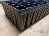 1 x Deep root tray 15cm hoog  (60 gaten 4,8 x 4,8cm) superstevig - Zaaitray zaaibak kweektray stektray