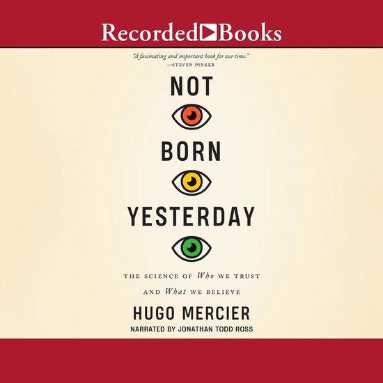 Boek cover Not Born Yesterday van Hugo Mercier (Onbekend)