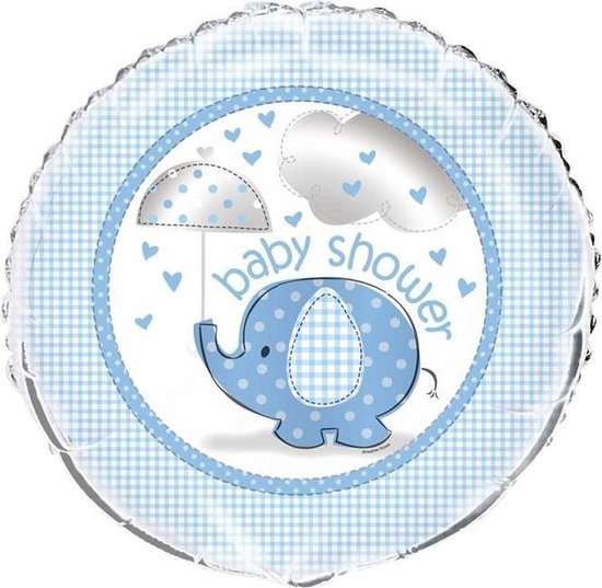 Haza Original Folieballon Baby Shower Blauw 45 Cm