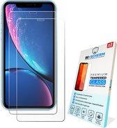 iPhone 11 Screenprotector Glas - iPhone XR Screenprotector Glas - Case Friendly - 2x