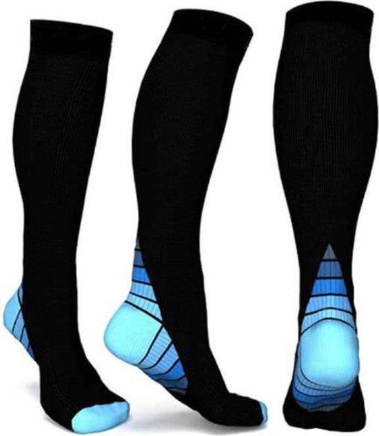 Compressiekousen | Hardlopen | Steunkousen Mannen Vrouwen | Sportsokken Heren Dames | Sokken | Hardloopsokken | Kousen | Kniekousen | Wandelsokken | Vliegtuig sokken | maat L/XL