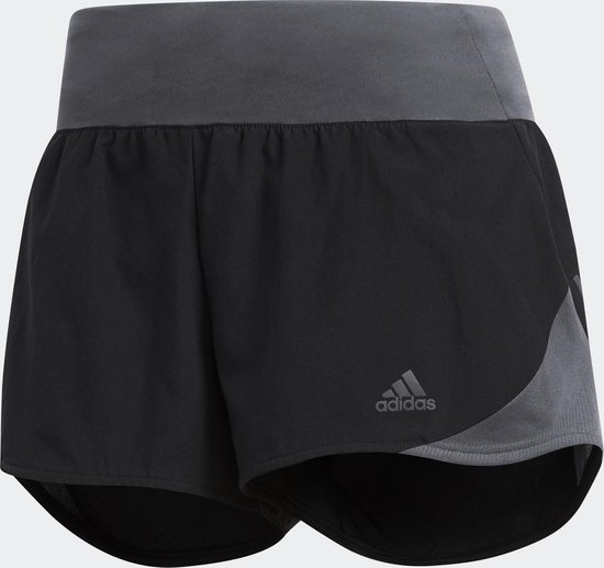 adidas Run It Short W Sportbroek Dames - Black - Maat XL