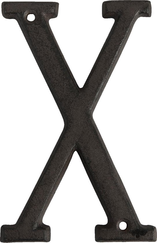 6Y0840-X - Letter X - 13 cm - ijzer - bruin