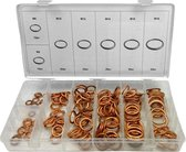 Weber Tools | Assortiment gevulde koper ringen 150-delig | M6 t/m M18 |