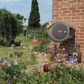 Hozelock Auto Reel 40 meter - zelfoprollende muurhaspel -  met startset en tuinspuit - grijs