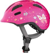 Abus Smiley 2.0 Fietshelm - Maat  M (50-55 cm) - pink butterfly