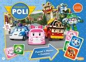 Robocar poli  - 3 in 1 box - memo, domino, puzzel