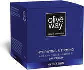 Oliveway hydraterende en verstevigende dagcrème met biologische olijfolie en Vitamine E - 50 ml