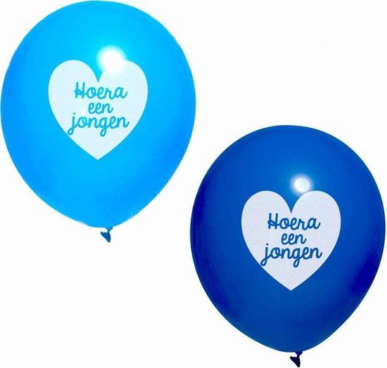 Ootje Kadootje ballonnen 'Hoera een jongen' Blauw