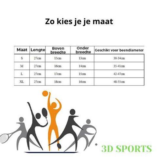 3D professionele kniebrace - knieband - compressieband - L