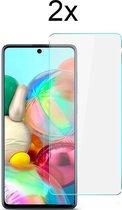 Samsung A71 Screenprotector Glas - 2x Samsung Galaxy A71 Screen Protector Glas