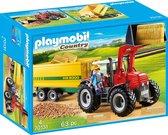 PLAYMOBIL Country  Grote tractor met aanhangwagen - 70131