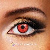 Partylenzen - Vampire Red - jaarlenzen met lenshouder - kleurlenzen Partylens®
