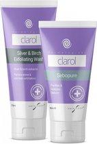 Clarol Duo Care Pack | Talgproductie zuiveren|Huid ontgiften | Slechte acne-bacteriën vernietigen