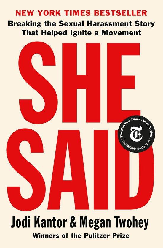 Boek cover She Said van Jodi Kantor (Onbekend)