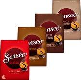 Senseo Koffiepads Variatiepakket - 4x 36 pads - Classic, Strong, Extra Strong, Mocca - voor in je Senseo® machine