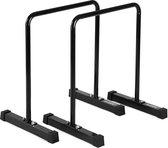 Workout Gear - Parallettes Set - Dip Bars - Hoog Model - Zwart
