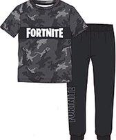 Fortnite pyjama camouflage - grijs - Maat 152 cm / 12 jaar.