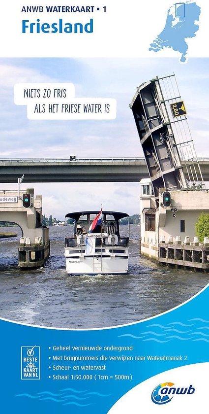 ANWB waterkaart 1 - Friesland - none |